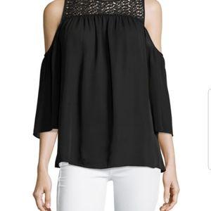 Michael Kors off shoulder lace top blouse